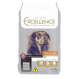 DOG EXCELLENCE HI-PREMIUM - RAÇAS GRANDES E MÉDIAS FRANGO & ARROZ – LIGHT