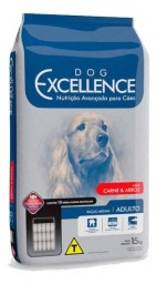 DOG EXCELLENCE HI-PREMIUM - RAÇAS MÉDIAS CARNE & ARROZ – ADULTO