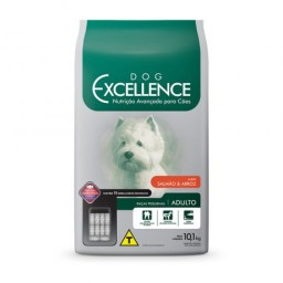 DOG EXCELLENCE HI-PREMIUM - RAÇAS PEQUENAS SALMÃO & ARROZ – ADULTO