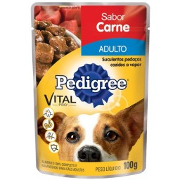 Pedigree Sachê Adulto Carne 100gr