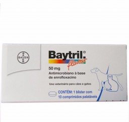 Baytril Flavour 50 Mg 10 Cpr