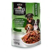 Three Dogs Sachê Carne com Legumes 100gr