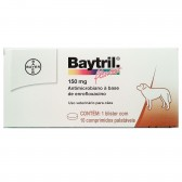 Baytril Flavour 150 Mg 10 Cpr